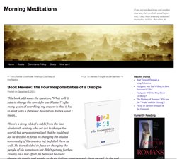 Morning Meditations site thumbnail